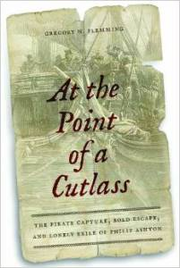 at the point of a cutlass