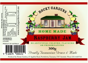 Raspberry Jam Nutritional Information