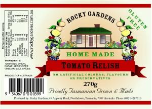 Tomato Relish Nutritional Information
