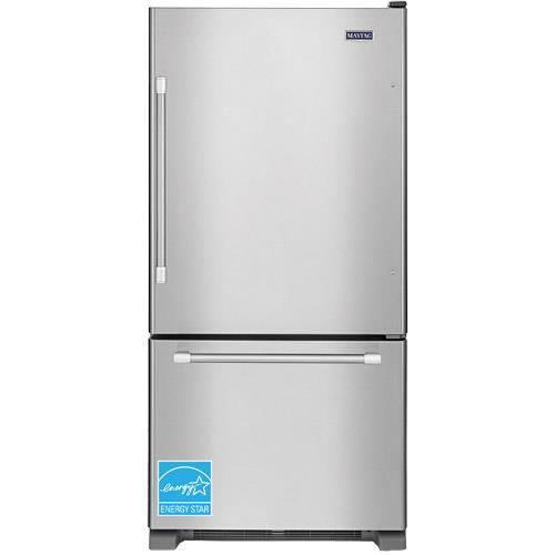 Le Meilleur Maytag Mbf2258Dem 21 9 Cuft Stainless Steel 2 Door Bottom Ce Mois Ci