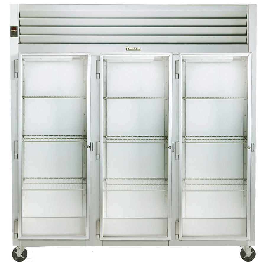 Le Meilleur Traulsen G32013 3 Section Glass Door Reach In Refrigerator Ce Mois Ci