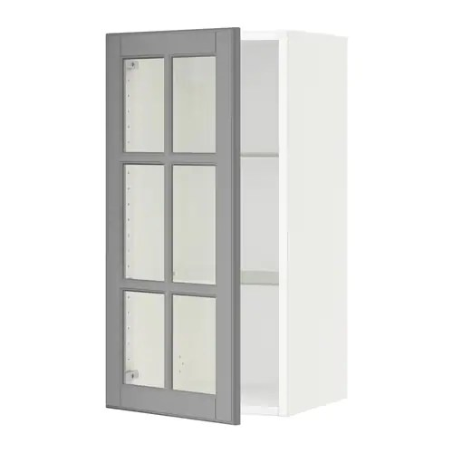Le Meilleur Sektion Wall Cabinet With Glass Door Bodbyn Gray Ce Mois Ci