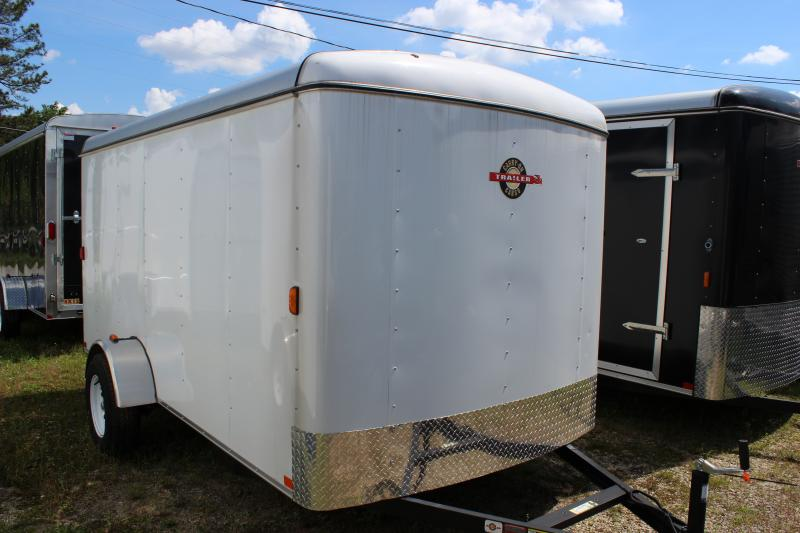 Le Meilleur 2016 Carry On 6X12 White Carry On Flat Nose Trailer Cargo Ce Mois Ci