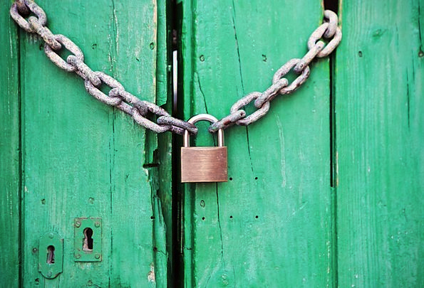 Le Meilleur Padlock Entrance Locked Door Closed Shut Chain Ce Mois Ci