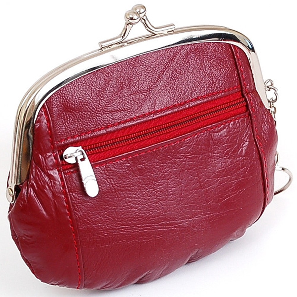 Le Meilleur Womens Leather Coin Purse Mini Wallet Metal Frame Id Ce Mois Ci