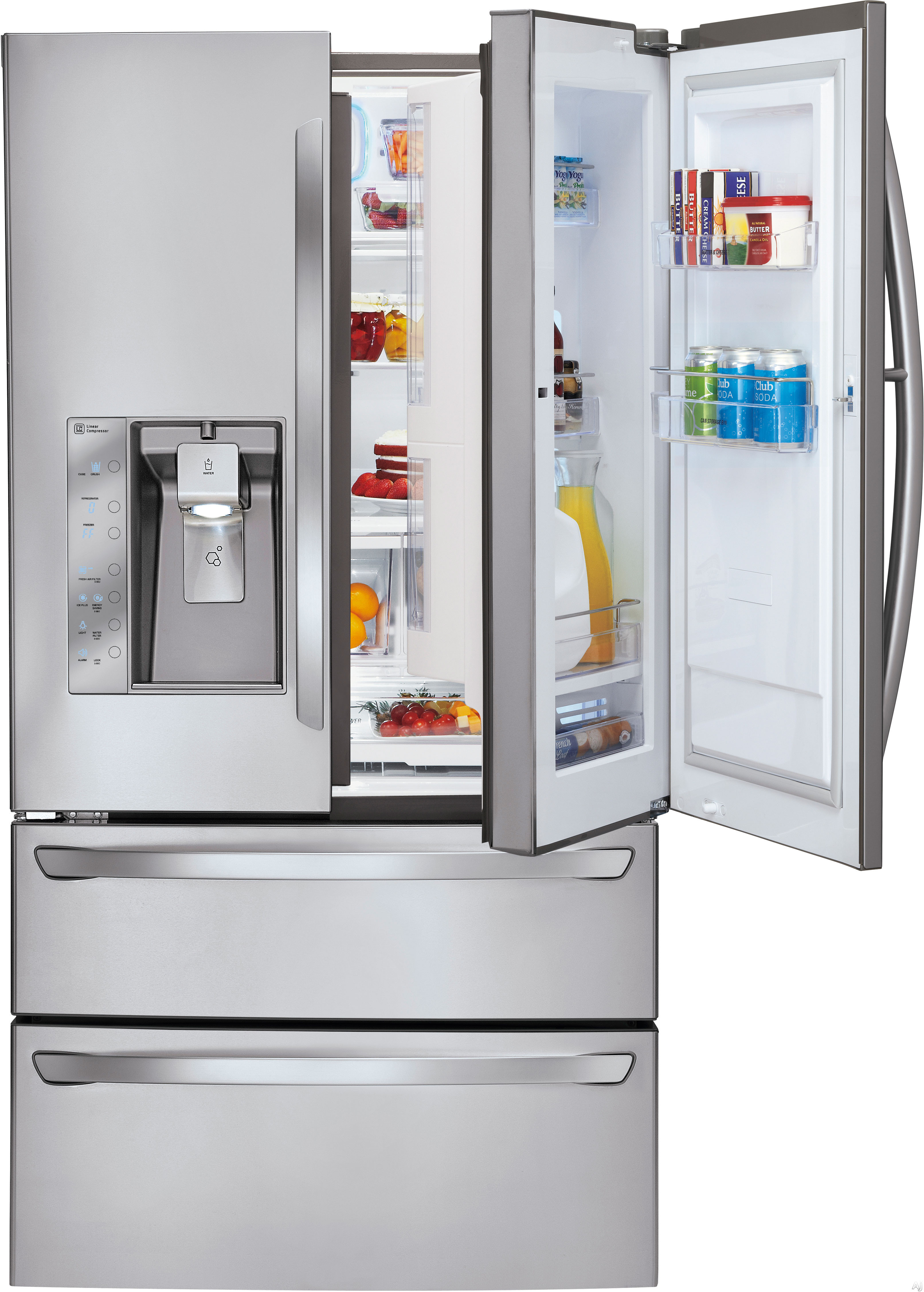 Le Meilleur Lg Lmx30995St 30 3 Cu Ft French Door Refrigerator With Ce Mois Ci