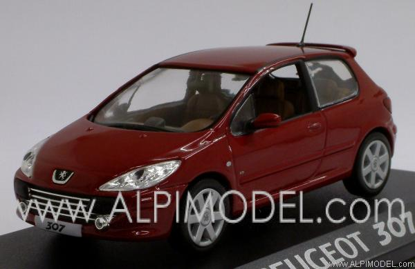 Le Meilleur Norev Peugeot 307 3 Doors Dark Red 1 43 Scale Model Ce Mois Ci