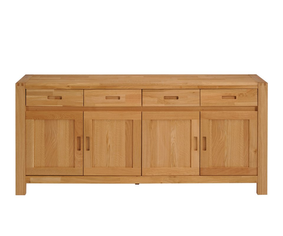 Le Meilleur Ethan French Oak Sideboard With 4 Doors And 4 Drawers Ce Mois Ci