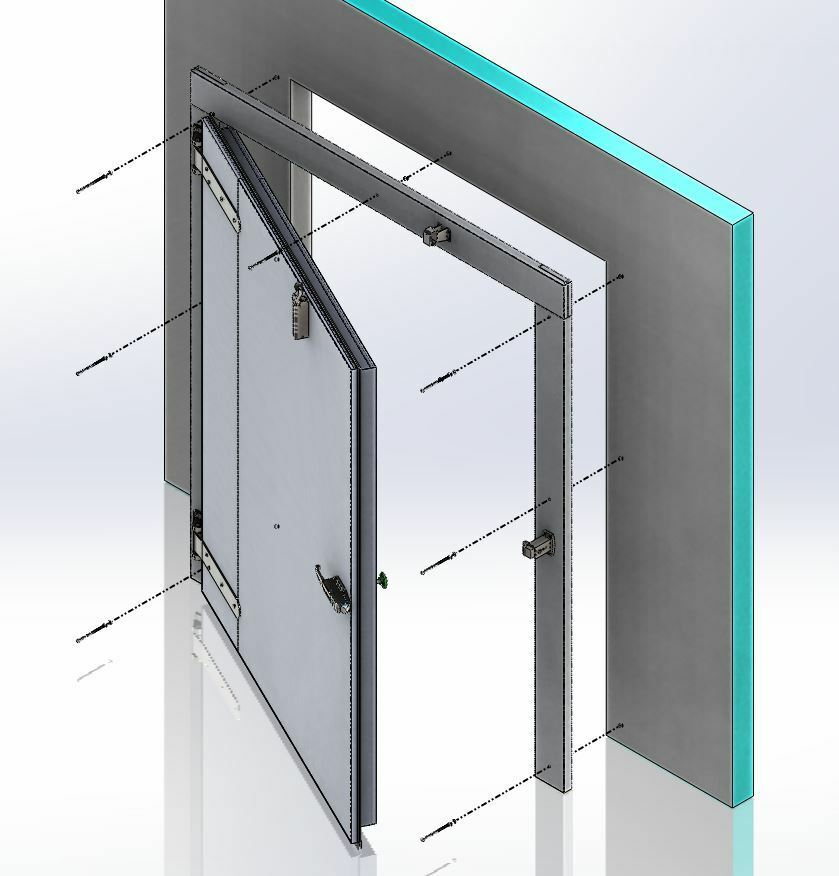 Le Meilleur New Walk In Cooler Replacement Door Prehung And Mounted Ce Mois Ci