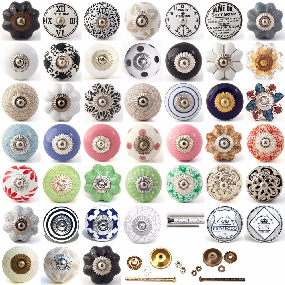 Le Meilleur Multi Coloured Ceramic Knobs Drawer Pull Cupboard Door Ce Mois Ci