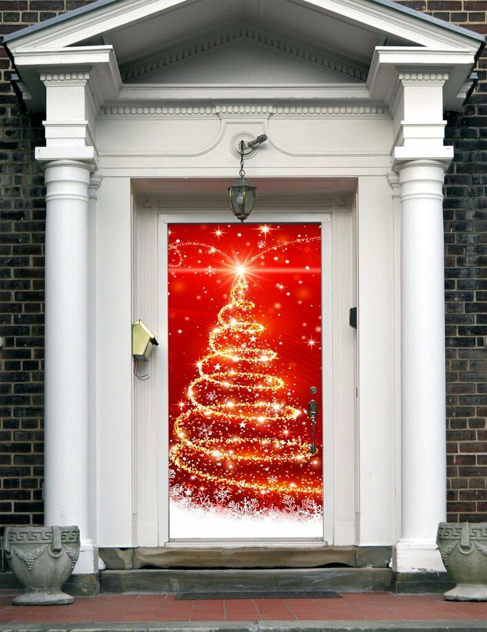 Le Meilleur Christmas Front Door Cover Entry Holiday Doors Banner Ce Mois Ci