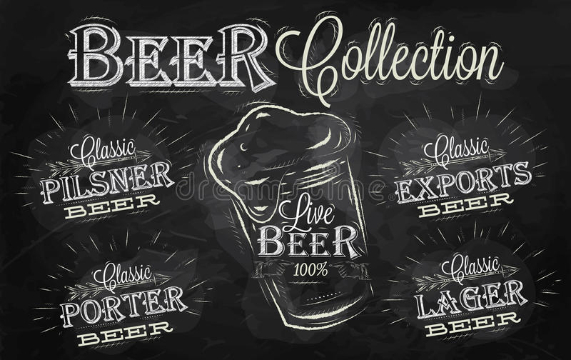 Le Meilleur Beer Names Collection Chalk Royalty Free Stock Ce Mois Ci