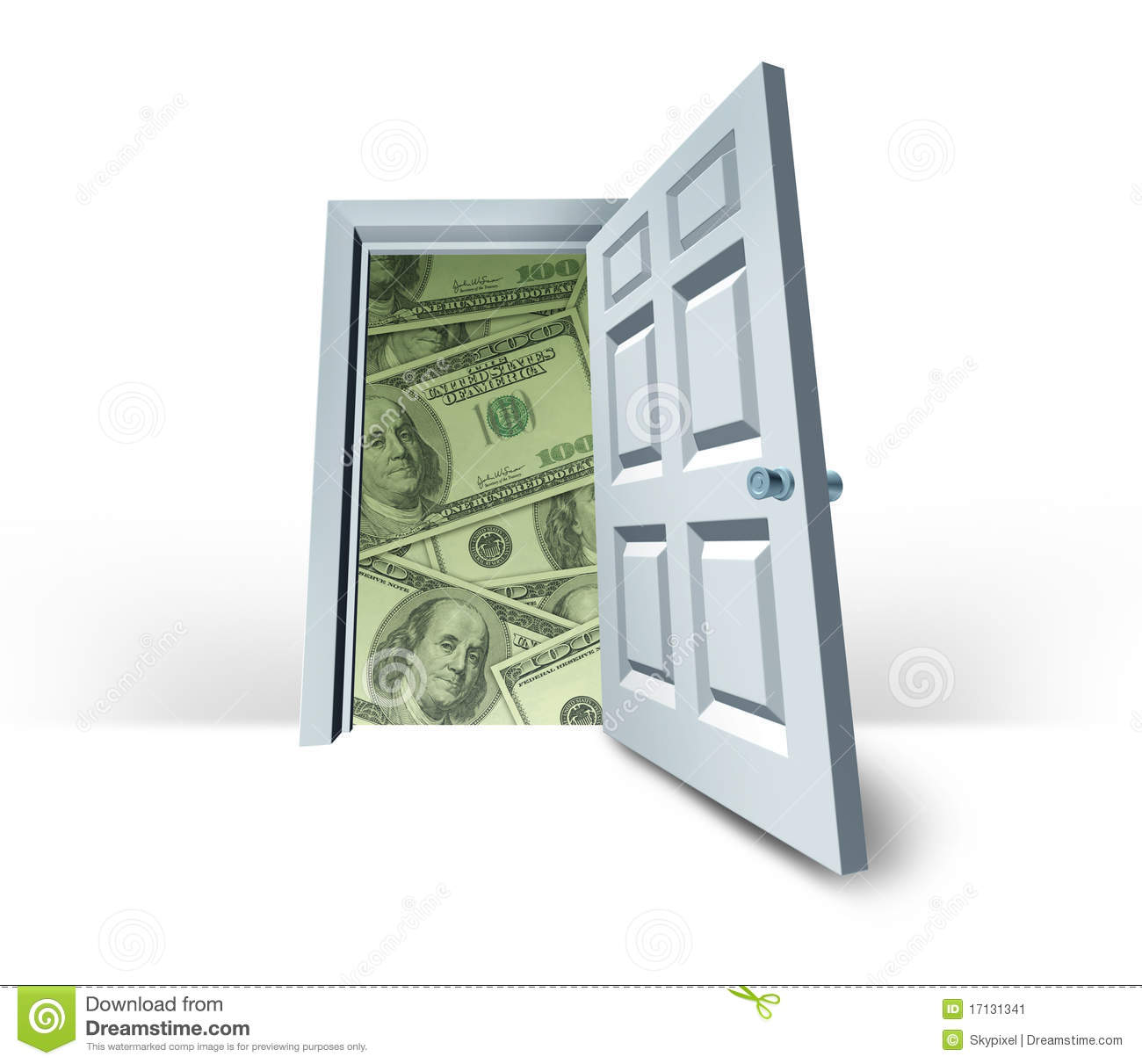 Le Meilleur Door To Get Rich Quick Success Money Fortune Stock Image Ce Mois Ci