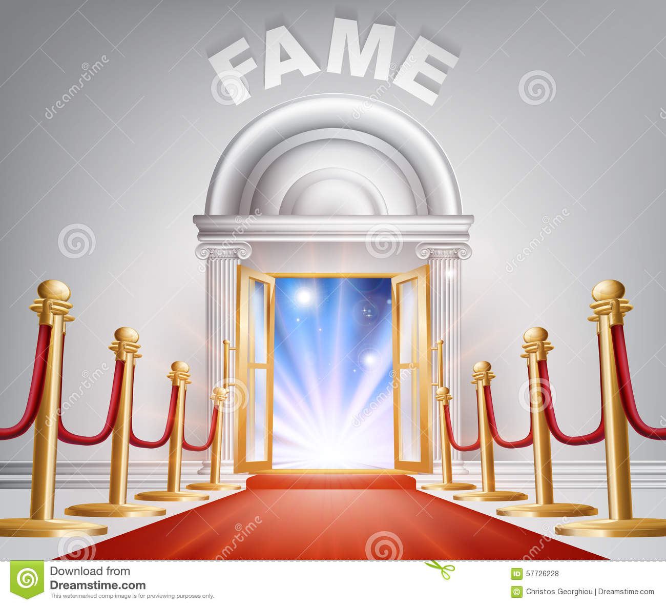 Le Meilleur Fame Red Carpet Door Stock Vector Illustration Of Ce Mois Ci