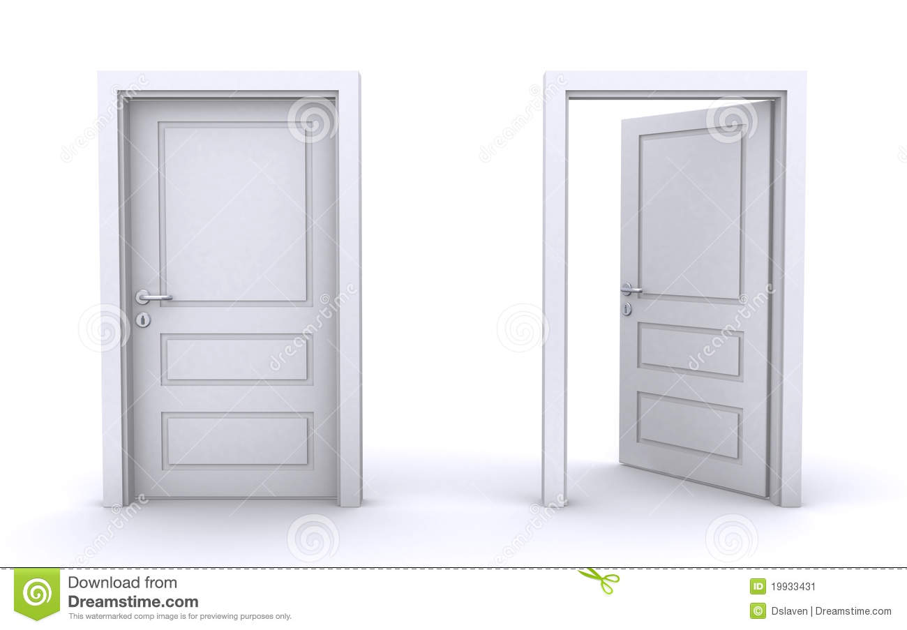 Le Meilleur Open And Closed Doors Stock Illustration Illustration Of Ce Mois Ci