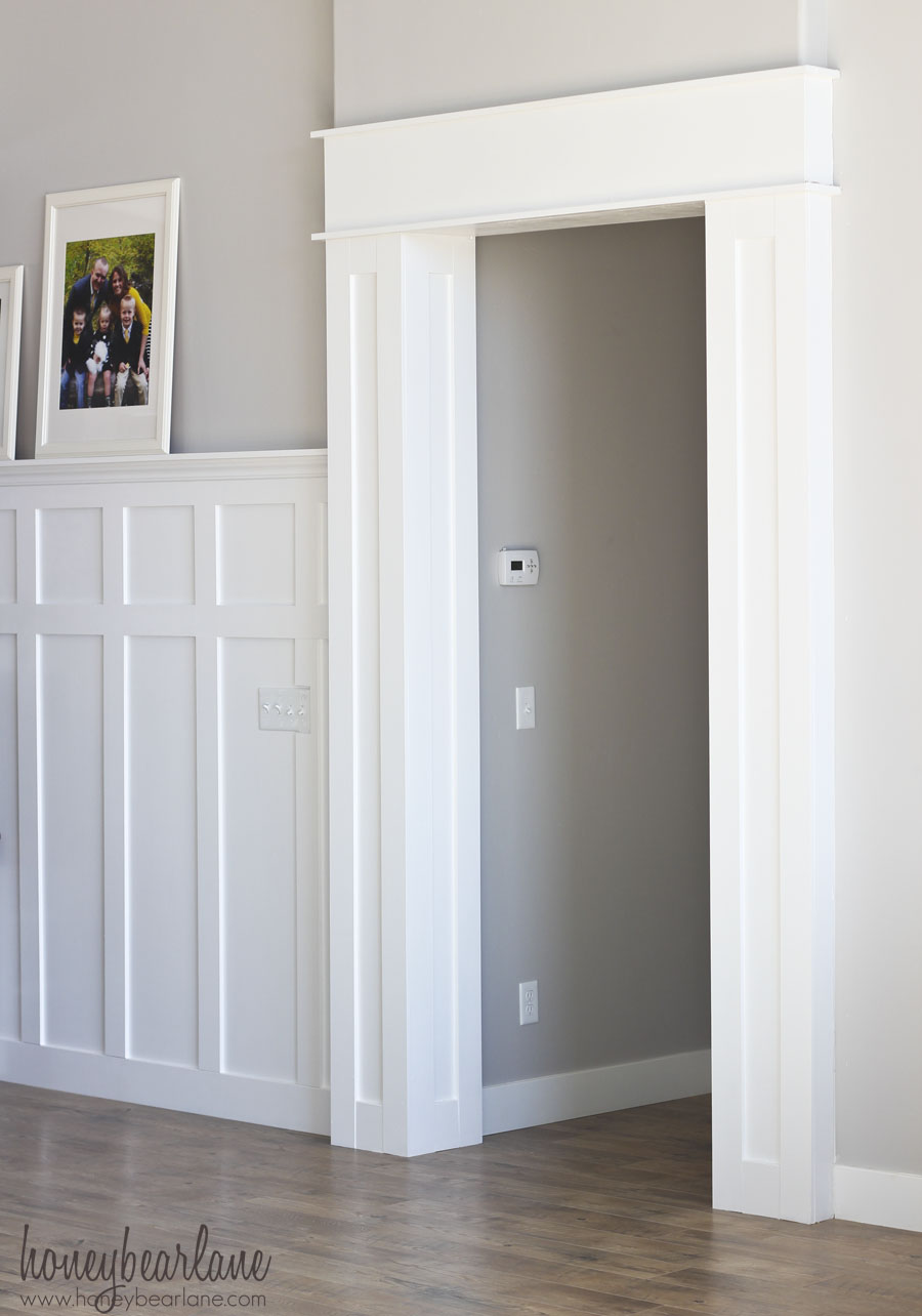 Le Meilleur Diy Doorway Trim Honeybear Lane Ce Mois Ci