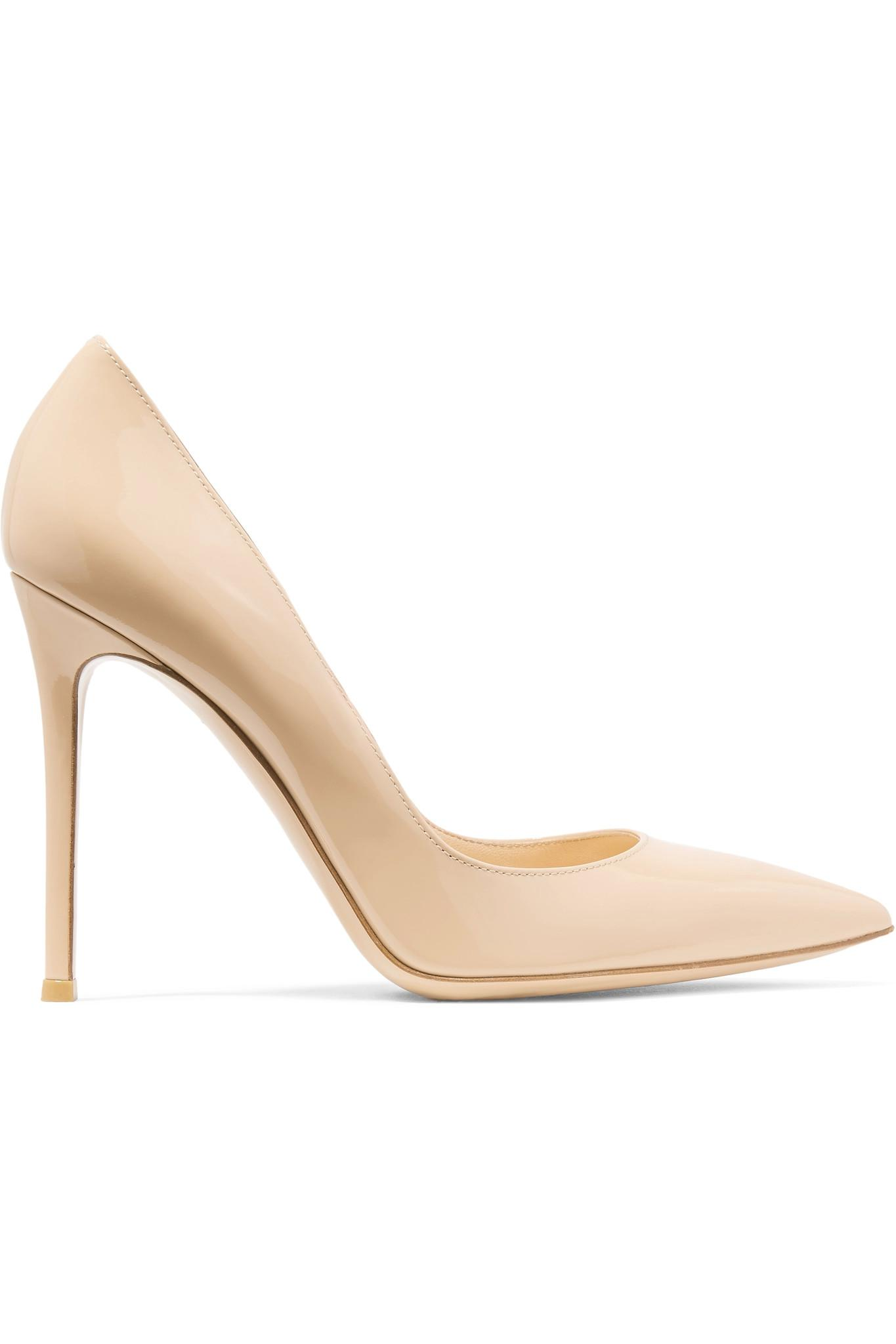Le Meilleur Gianvito Rossi 105 Patent Leather Pumps In Natural Lyst Ce Mois Ci