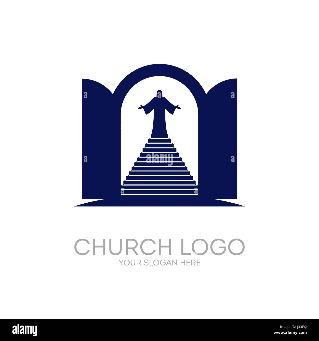 Le Meilleur Church Logo Christian Symbols Open The Door And The Ce Mois Ci