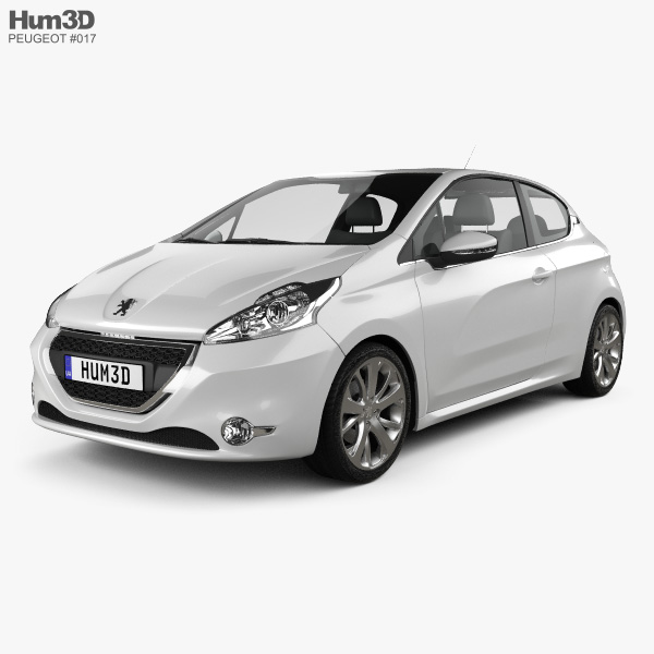 Le Meilleur Peugeot 208 3 Door 2013 3D Model Vehicles On Hum3D Ce Mois Ci