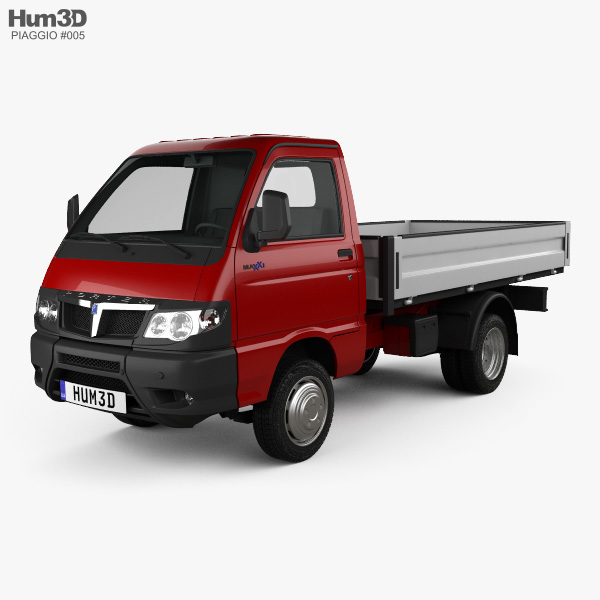 Le Meilleur Piaggio Porter Maxxi Tipper 2009 3D Model Vehicles On Hum3D Ce Mois Ci