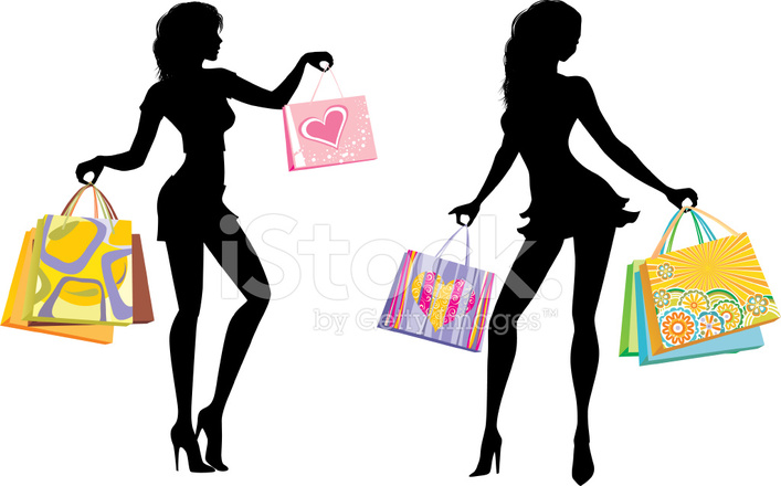 Le Meilleur Silhouettes Of Shopping Girls 1 Stock Vector Freeimages Com Ce Mois Ci