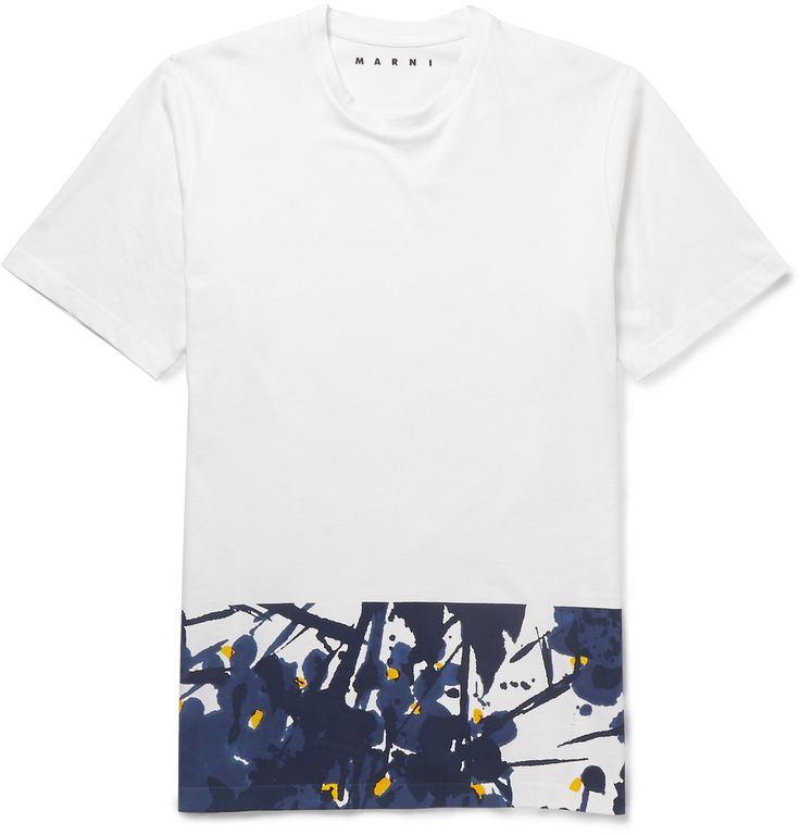 Le Meilleur Marni Printed Cotton T Shirt Mr Porter Marmarfashion Ce Mois Ci