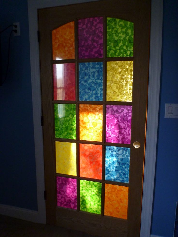 Le Meilleur Decoupaged Stained Glass French Doors Creative Juices Ce Mois Ci