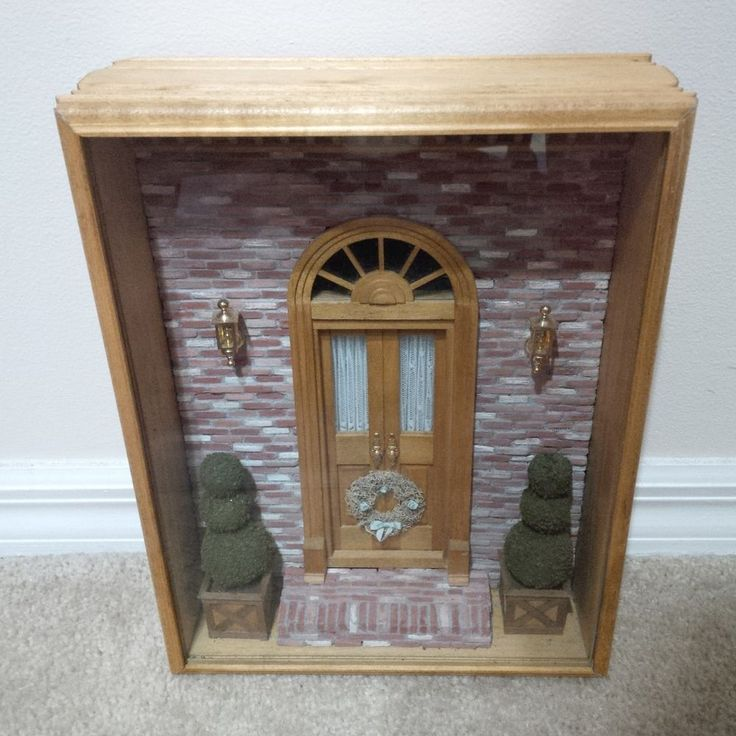 Le Meilleur 1 12 Dollhouse Miniature Room Box Door For All Seasons Ce Mois Ci
