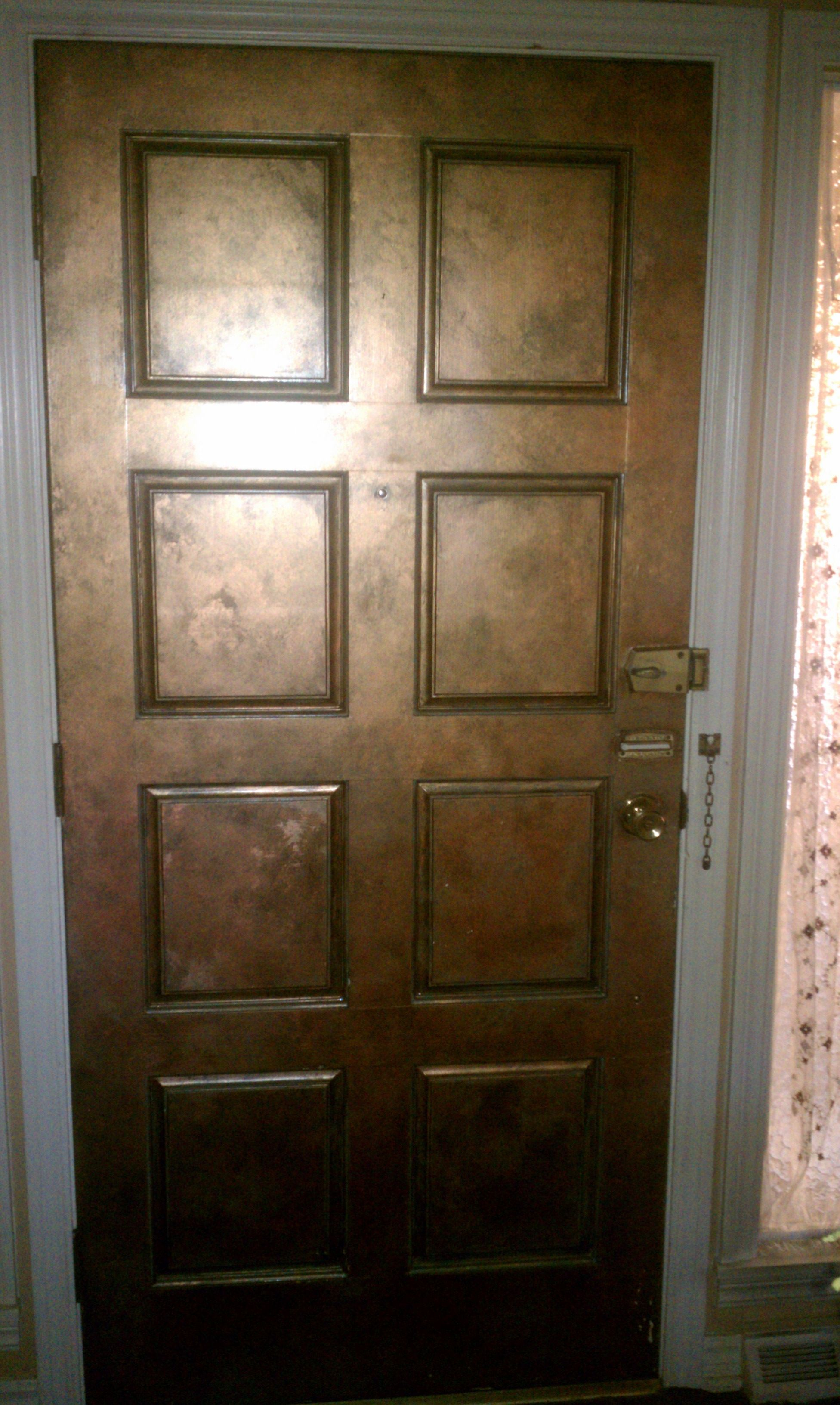 Le Meilleur Ordinary Wood Door Faux Painted To Look Like Copper Fun Ce Mois Ci