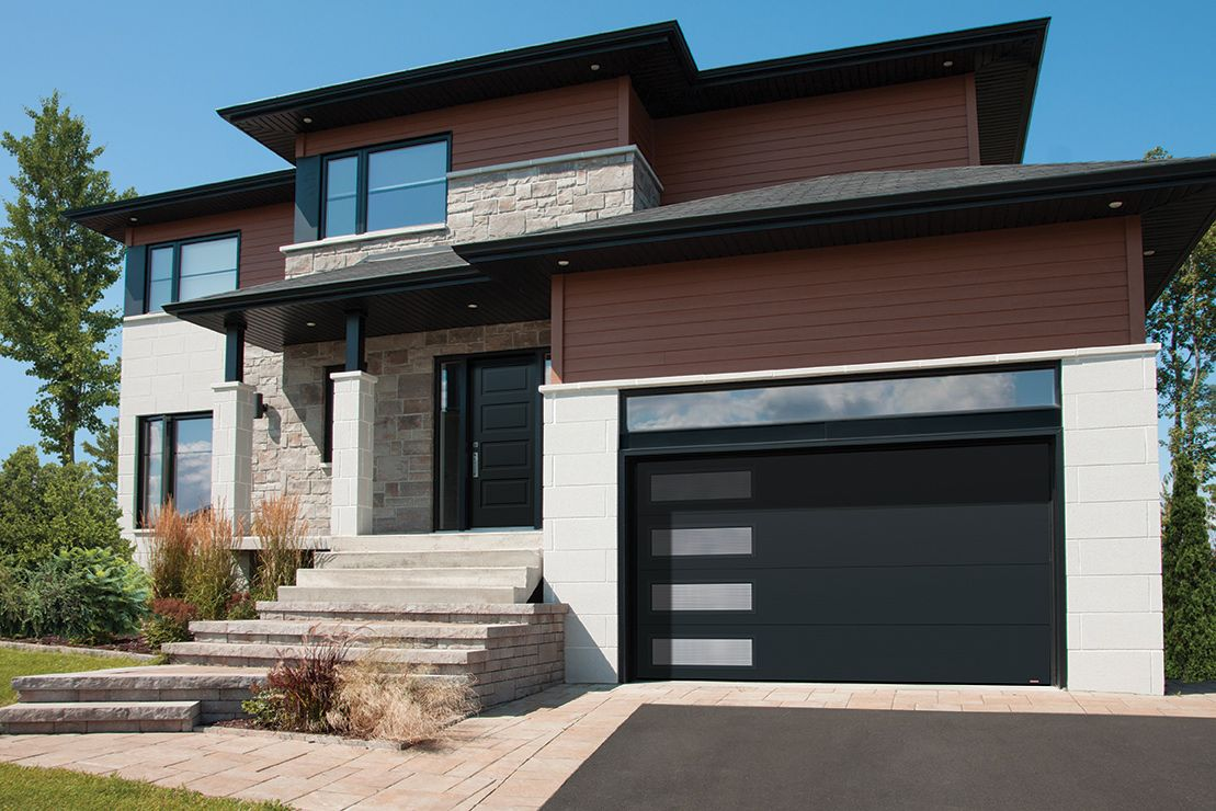Le Meilleur Black Modern Garage Door With Windows Porte De Garage Ce Mois Ci