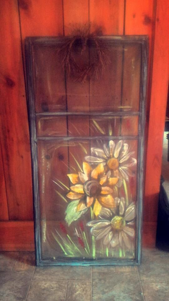Le Meilleur Hand Painted Screen Door By Amcattic On Etsy Old Ce Mois Ci