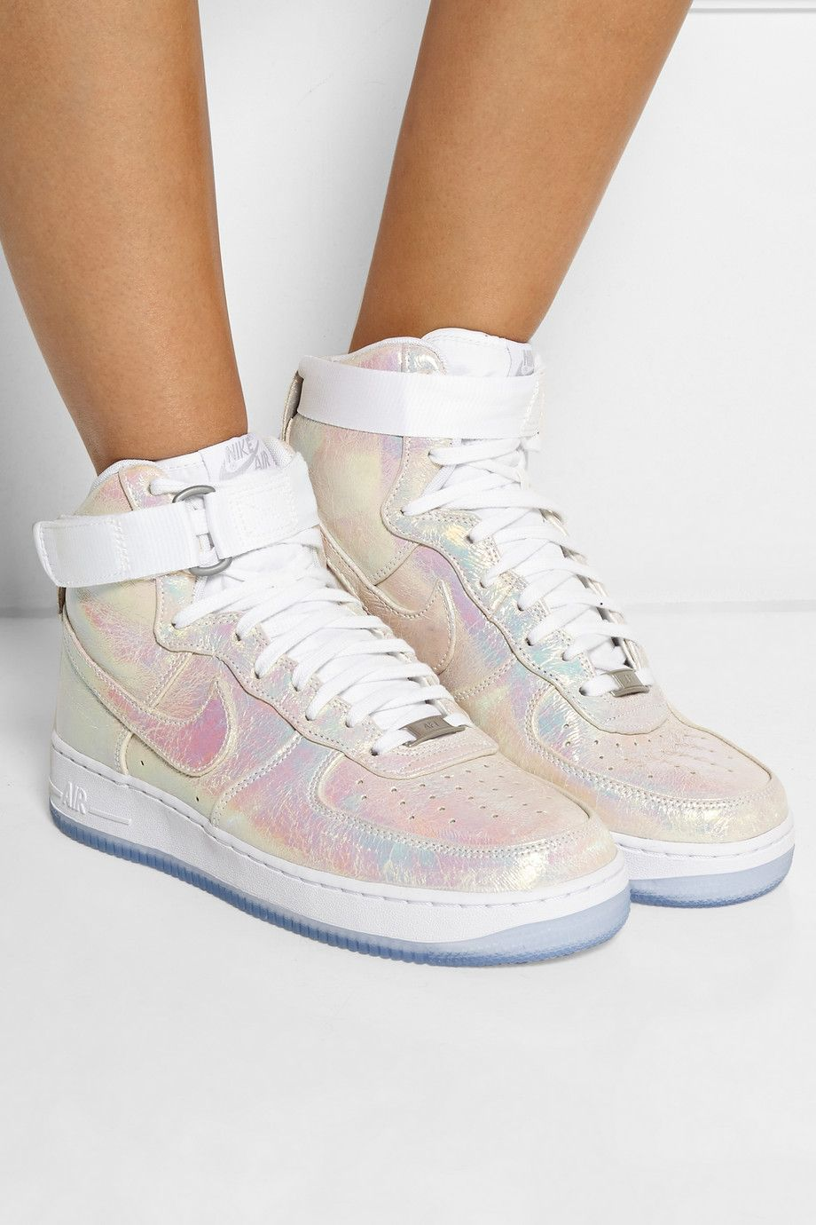 Le Meilleur Nike Air Force 1 Leather High Top Sneakers Net A Ce Mois Ci