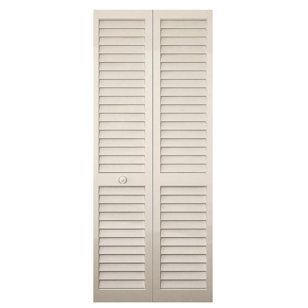Le Meilleur Kimberly Bay 32 In X 80 In White Louver Solid Core Wood Ce Mois Ci