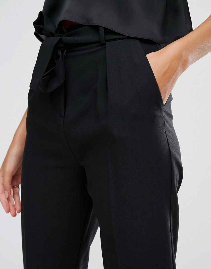 Le Meilleur Black Asos Peg Leg Trousers For Women S Business Casual Ce Mois Ci