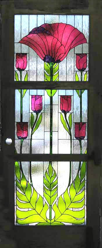 Le Meilleur Tulip Doors Atmospheric Glass Stained Glass By Tangerine Ce Mois Ci