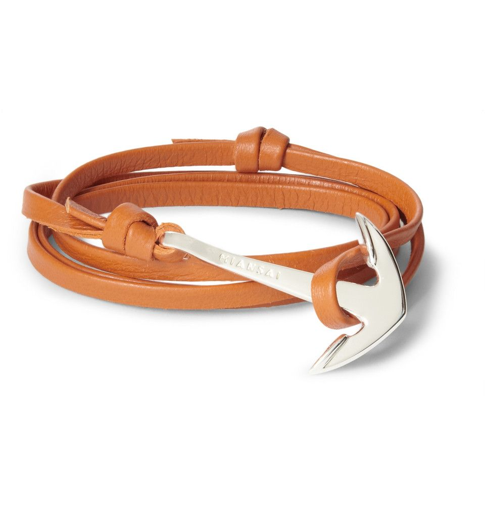 Le Meilleur Miansai Leather And Metal Anchor Wrap Bracelet Mr Porter Ce Mois Ci