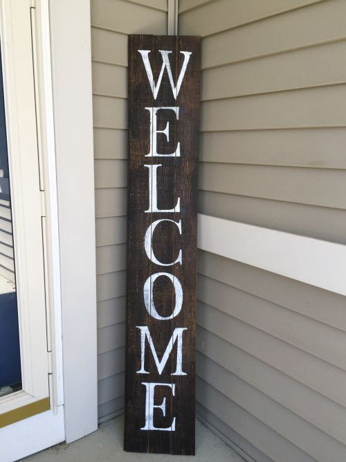 Le Meilleur 100 Room Challenge Diy Barnwood Welcome Sign Reclaimed Ce Mois Ci