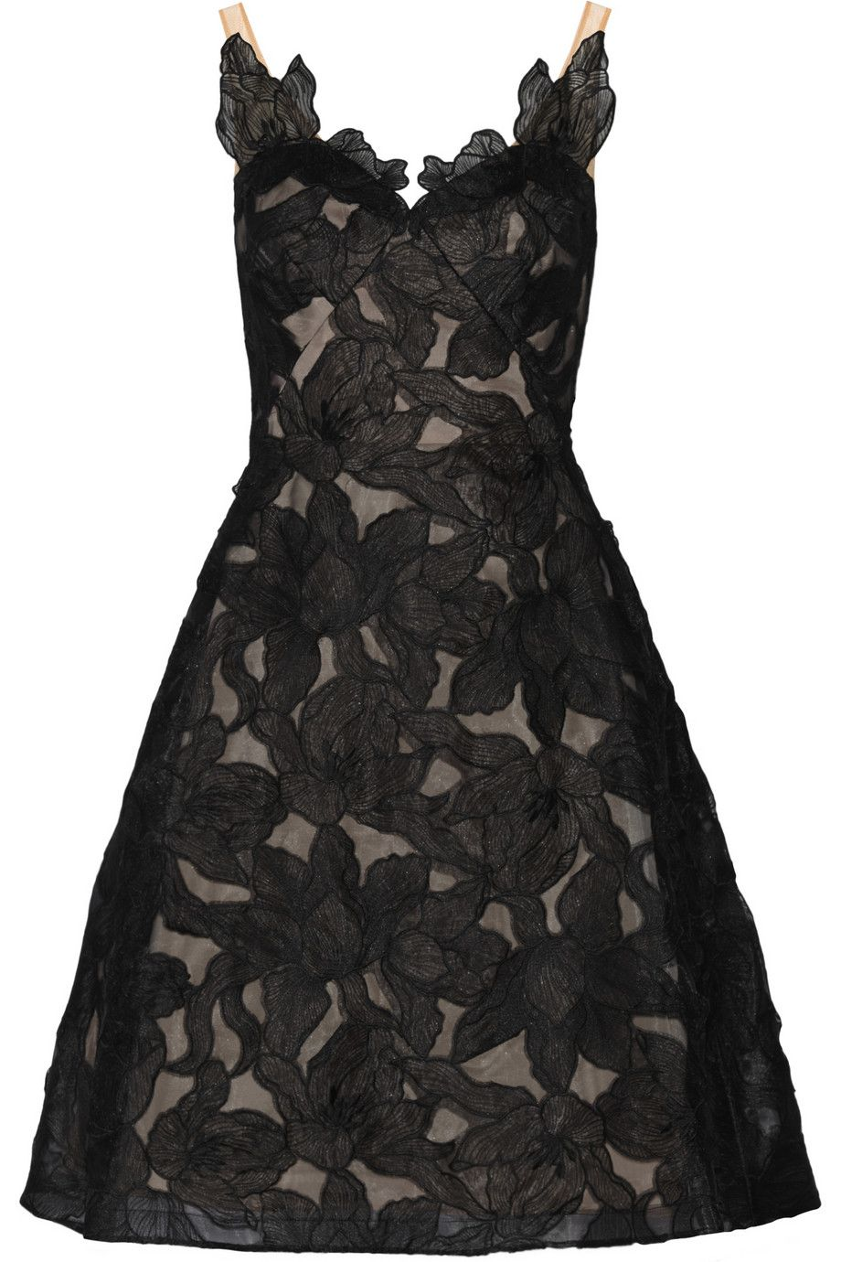 Le Meilleur Marchesa Notte Floral Embroidered Organza Dress My Ce Mois Ci