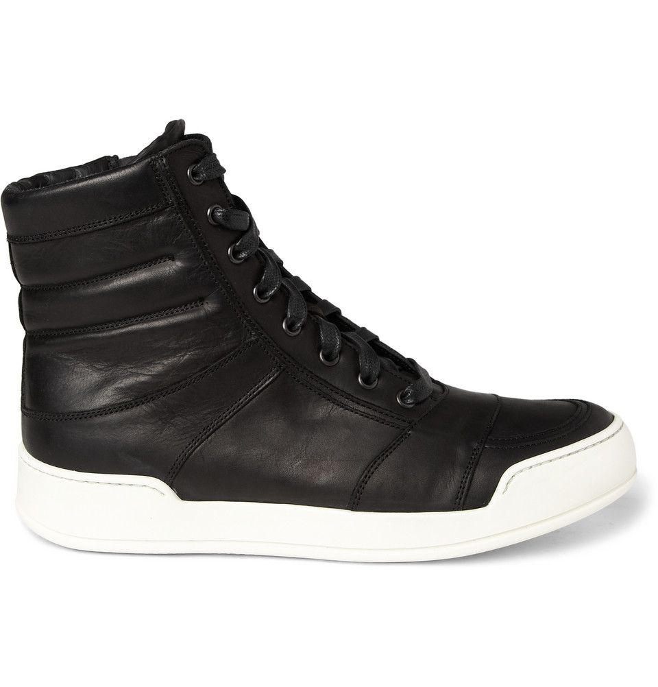 Le Meilleur Balmain Leather High Top Sneakers Men S Style Ce Mois Ci
