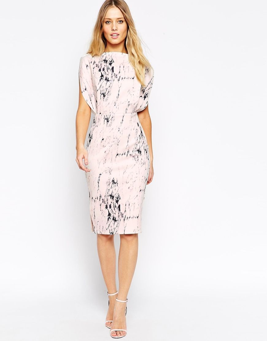 Le Meilleur Asos Open Top Marble Print Midi Dress Clothing Dresses Ce Mois Ci