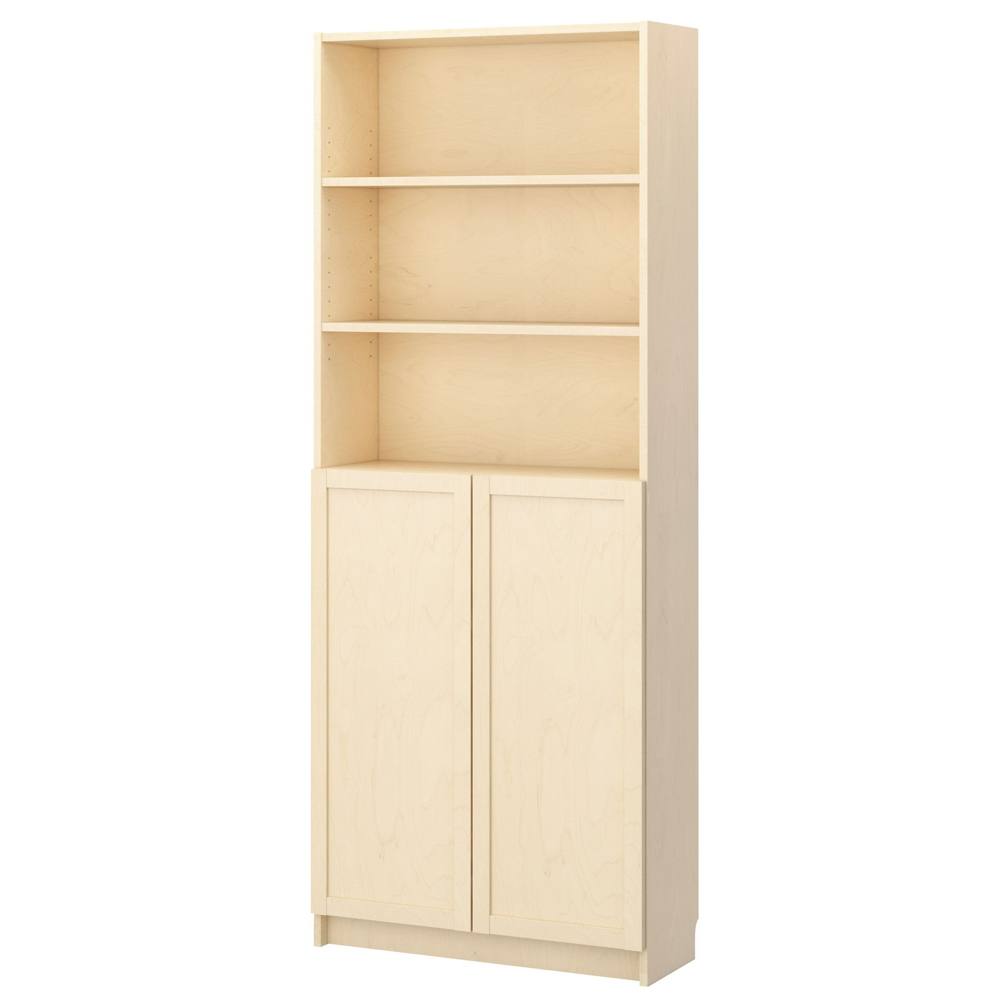 Le Meilleur Billy Bookcase With Doors Birch Veneer Ikea Width 31 Ce Mois Ci