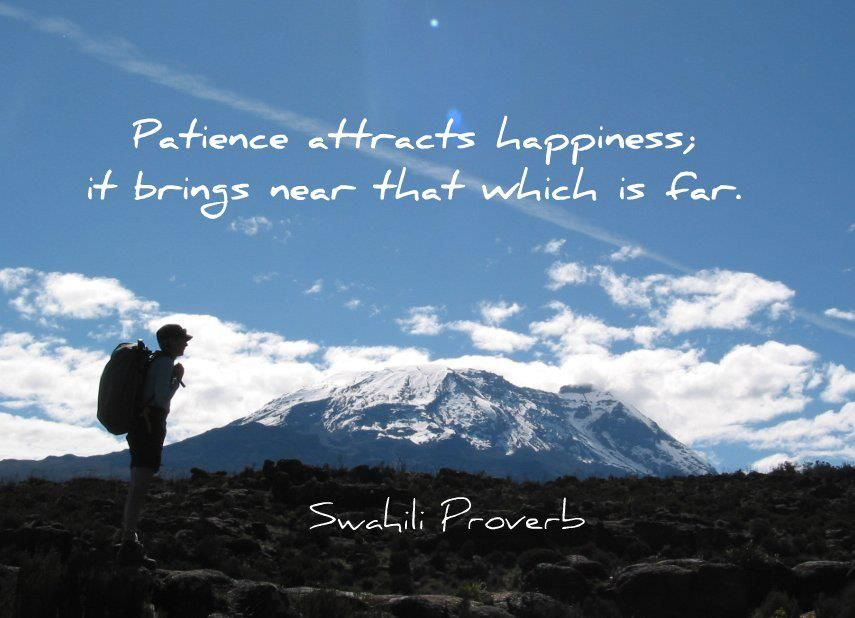 Le Meilleur Patience Attracts Happiness It Brings Near That Which Is Ce Mois Ci