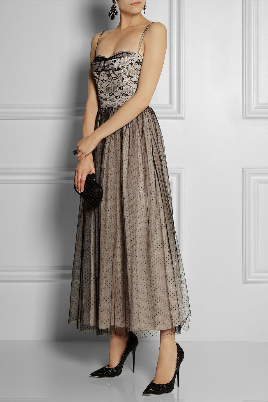 Le Meilleur Red Valentino Lace And Tulle Overlay Taffeta Gown Net Ce Mois Ci