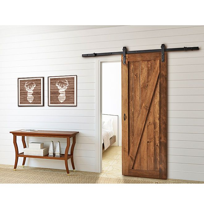 Le Meilleur Rona Barn Sliding Door Rail 199 Holds Up To 150Lbs Ce Mois Ci