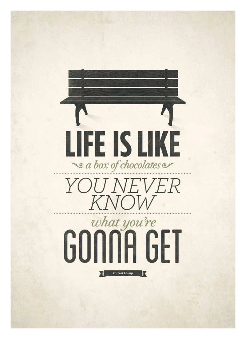 Le Meilleur Life Is Like A Box Of Chocolates Forrest Gump Poster Ce Mois Ci