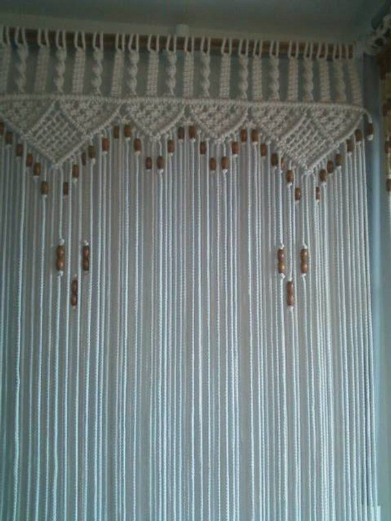 Le Meilleur Bead Fringed Door Curtain Macrame Rope 27 To 30 Wide Ce Mois Ci