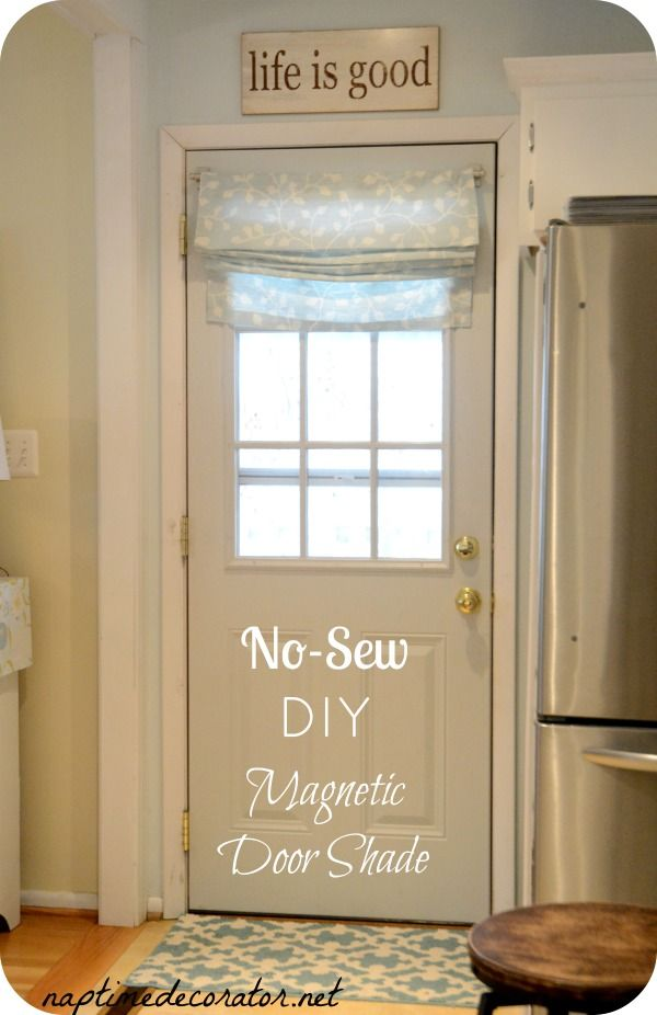 Le Meilleur No Sew Diy Magnetic Door Shade Naptime Decorator Me In Ce Mois Ci