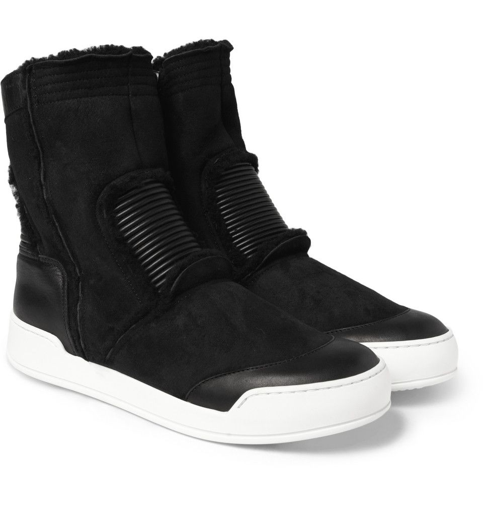 Le Meilleur Balmain Shearling High Top Sneakers Mr Porter Footgear Ce Mois Ci