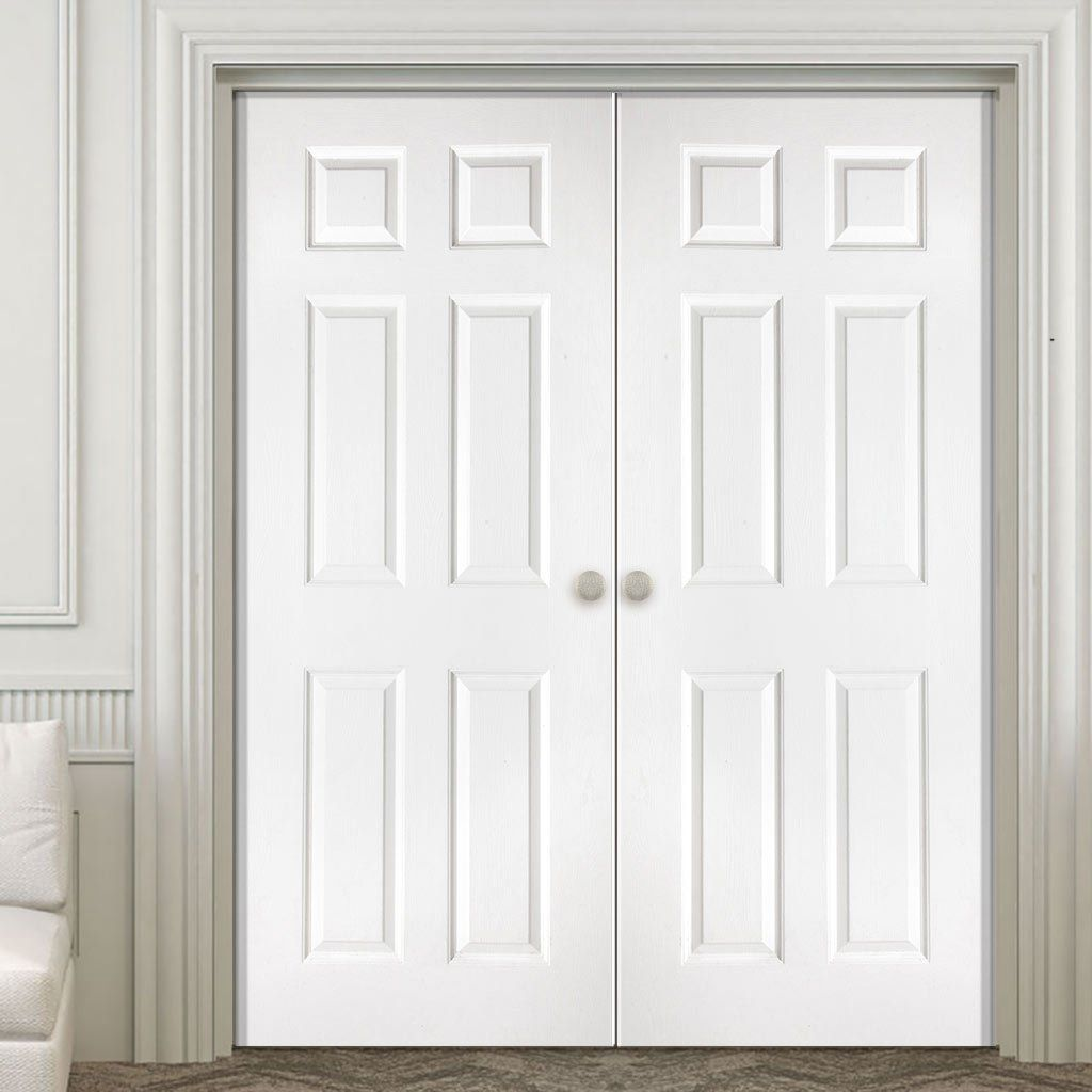 Le Meilleur Washington Solid Grained 6 Panel Pvc Door Pair In 2019 Ce Mois Ci