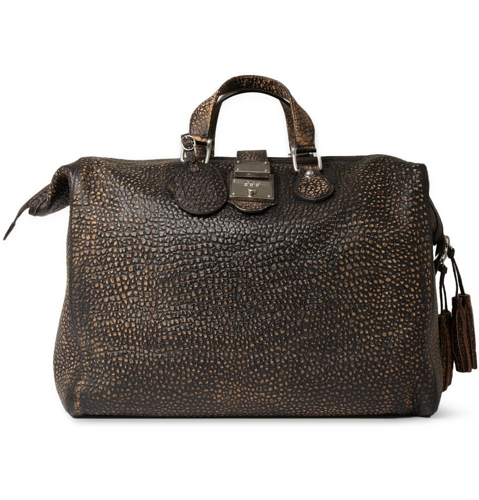 Le Meilleur Gucci Burnished Crocodile Embossed Leather Holdall Mr Ce Mois Ci